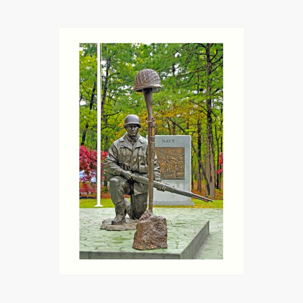 World War II Veterans Memorial Park Monument Art Print