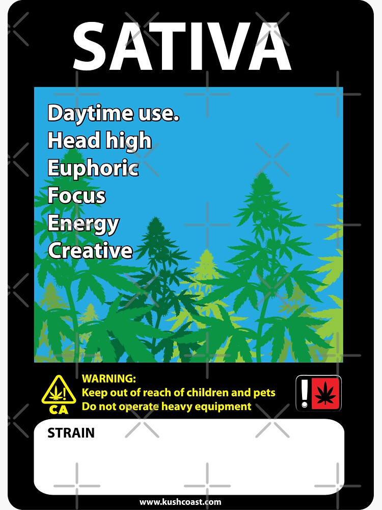 Sativa Cannabis Label de kushcoast