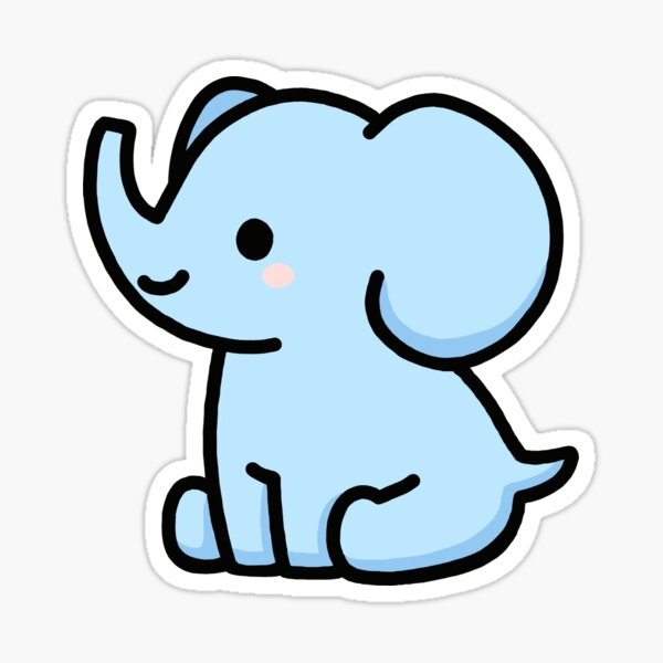l'éléphant Sticker