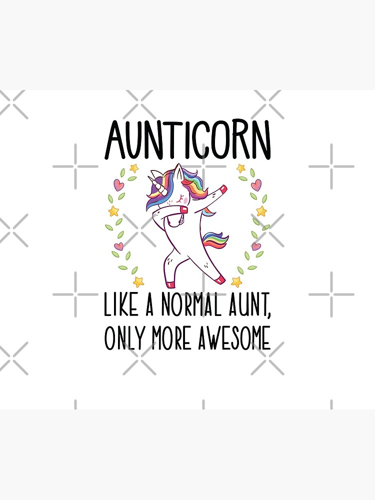 Aunticorn Dabbing Unicorn Aunt Gift for Auntie  by FutureInTheAir