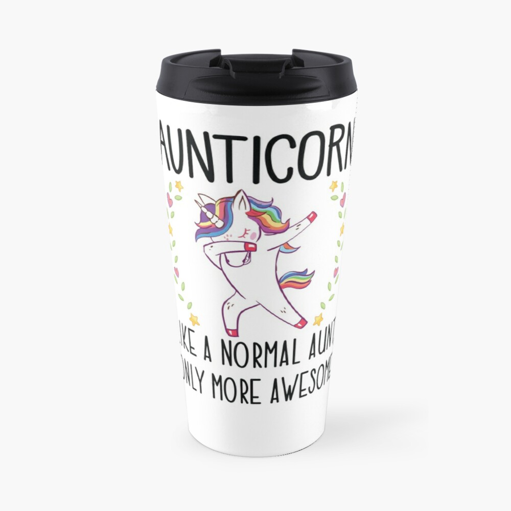 Aunticorn Dabbing Unicorn Aunt Gift for Auntie  Travel Mug