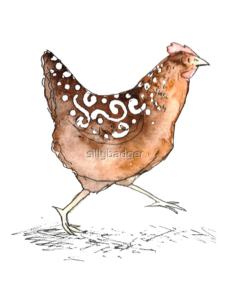 Hetty the happy hen. by sillybadger