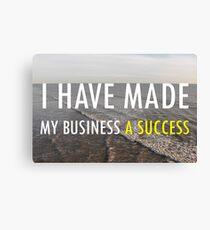 My Business Success Canvas Print