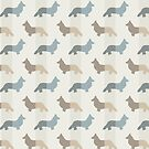 Pembroke Welsh Corgi's Pattern - Natural by XOOXOO