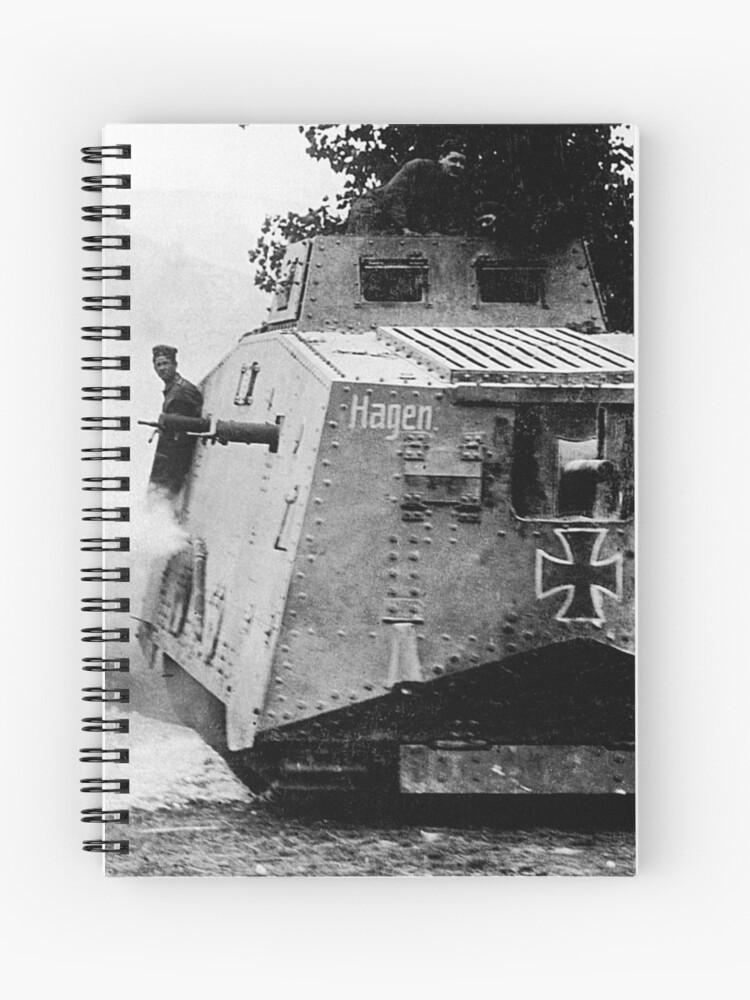 WW1 German Army Panzerwagen A7V Heavy Tank | Spiral Notebook