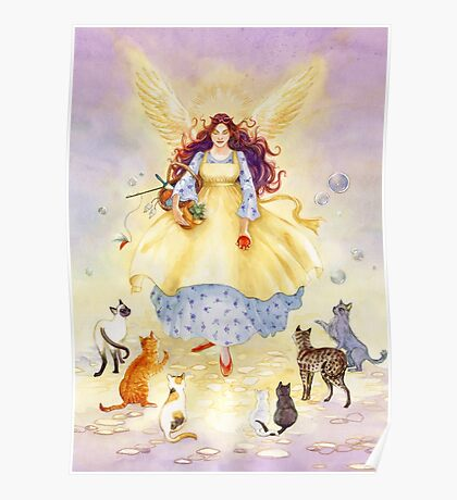 The Guardian Angel of Cats Poster