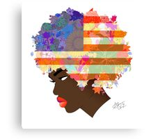 American Flower 'Fro  Canvas Print
