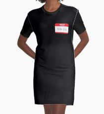 Hello My Name Is Peter File Graphic T-Shirt Dress