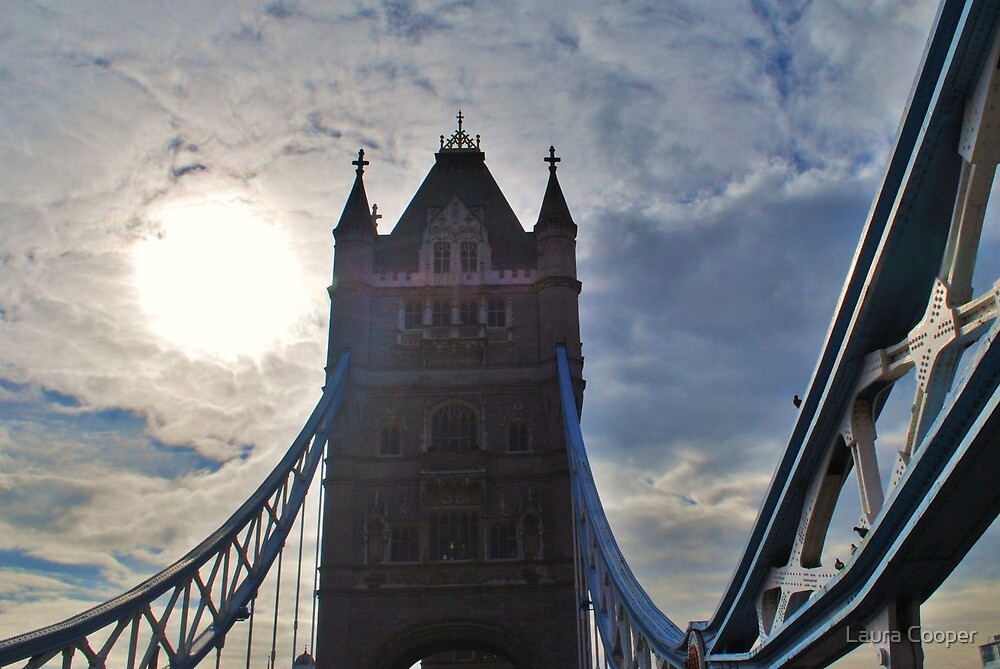 Tower Bridge in London, England by Laura Cooper