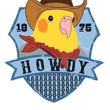 Howdy birb - cockatiel vaquero de FandomizedRose