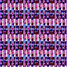Intricate Stripe Polka Dot Print by Melissa Park