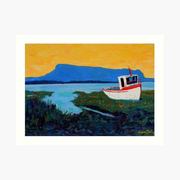 Boat, Benbulben (County Sligo, Ireland) Art Print