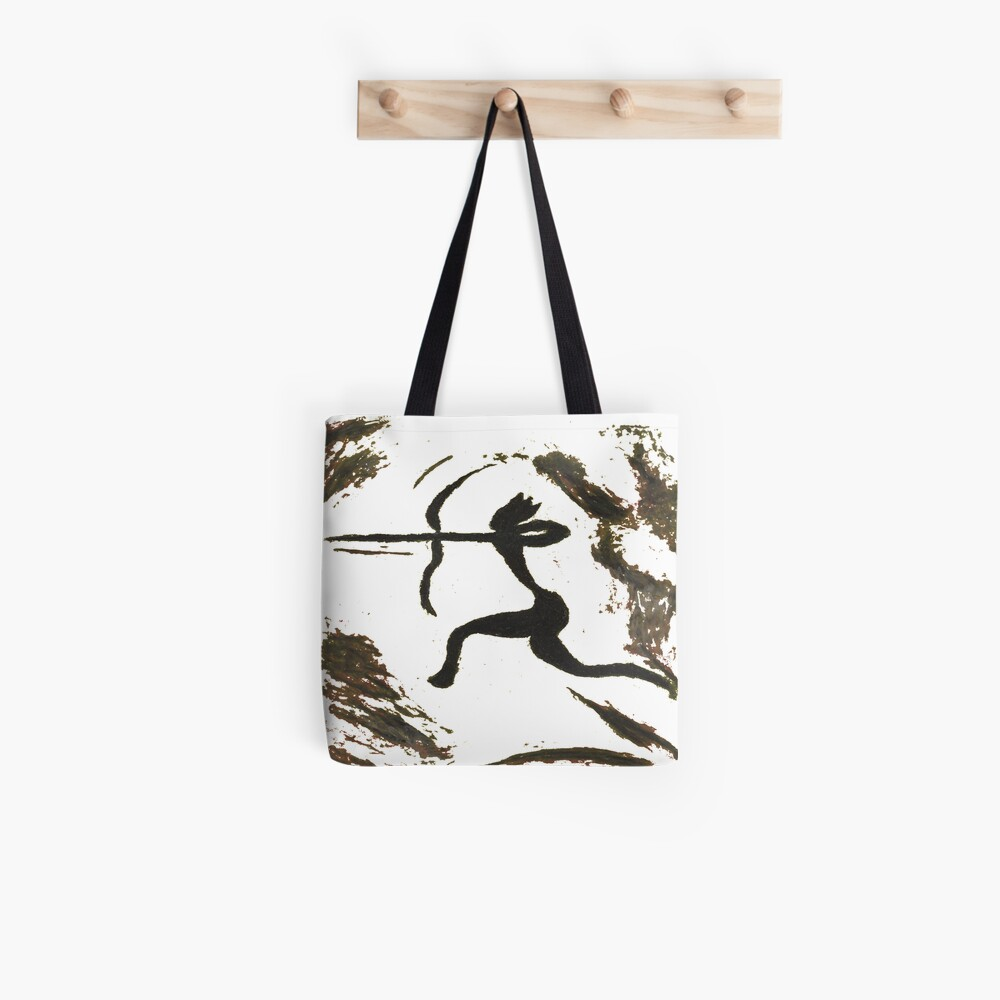 painting, art, outdoors, tree, one, illustration, water, bird, no people, pattern, square, animal, day Tote Bag