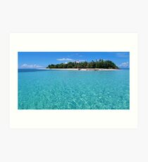 Pristine island and lagoon with turquoise water Art Print