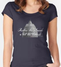 U.S. Capitol: Restore the Inside, Not the Outside Women's Fitted Scoop T-Shirt