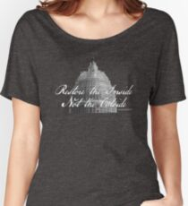 U.S. Capitol: Restore the Inside, Not the Outside Women's Relaxed Fit T-Shirt