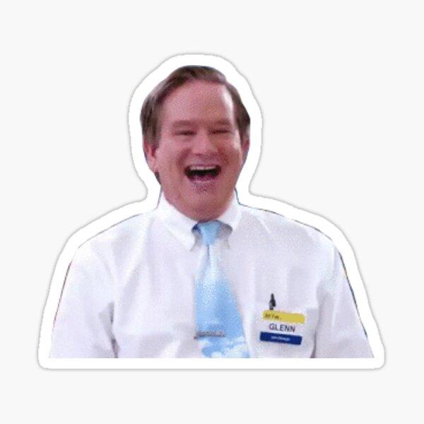 happy glenn Sticker