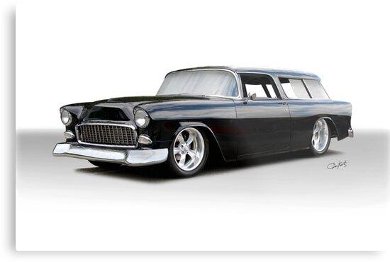 1955 Chevrolet Nomad Wagon 'Studio' by DaveKoontz