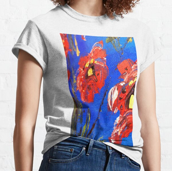 Abstract Floral Poppy Classic T-Shirt
