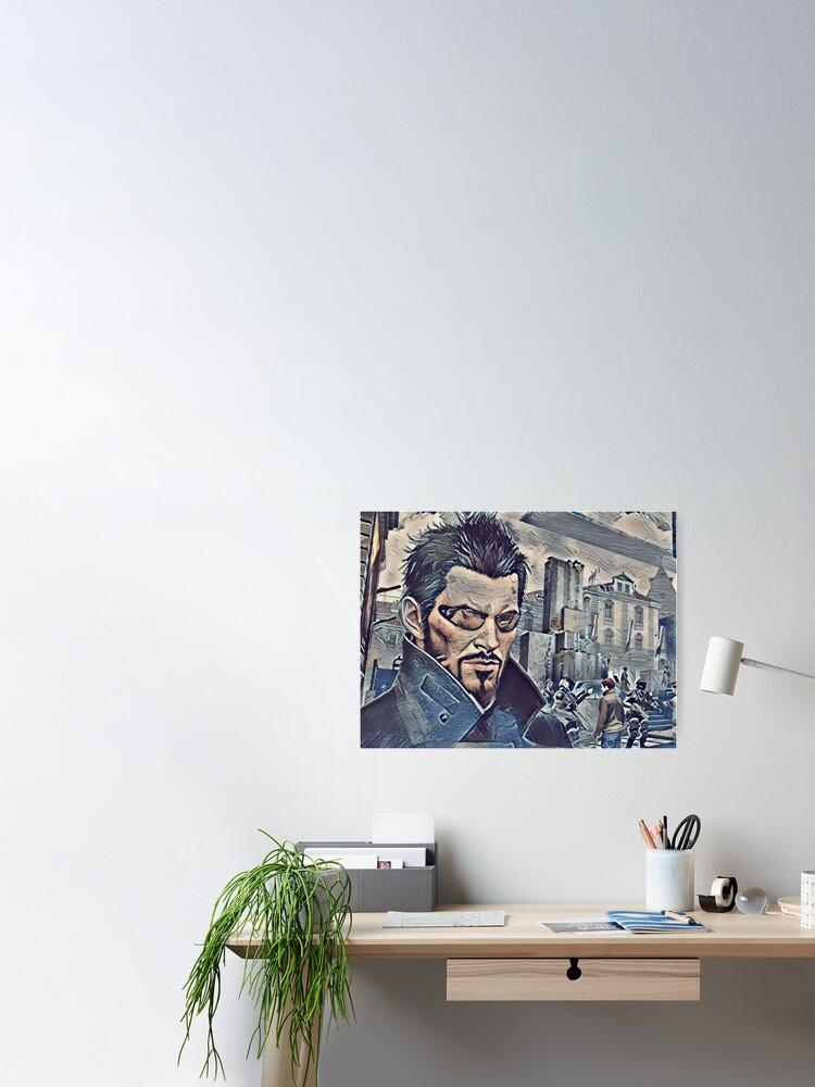 Alternate view of Deus Ex Adam Jensen Game Art Poster