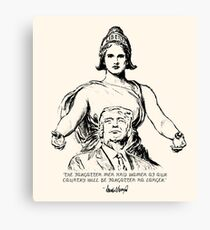 Columbia Embraces Donald Trump Canvas Print