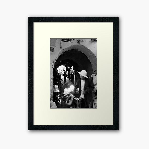 Old city motion Framed Art Print