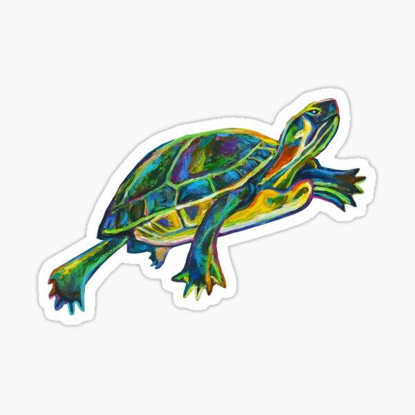 Cenote Turtle by Robert Phelps Sticker