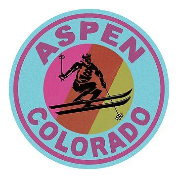 ASPEN COLORADO Esquí Esquí Montaña Montañas Esquí Snowboard de MyHandmadeSigns
