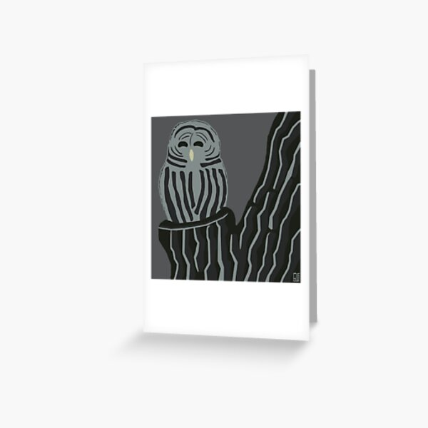 An Illustrated Life List: Barred Owl Greeting Card