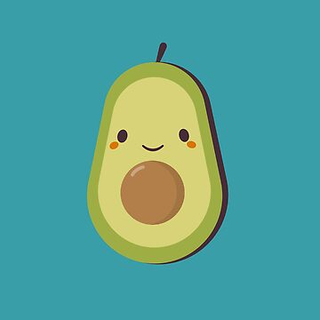 Cute Kawaii Avocado  by happinessinatee