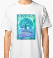 Rumi Friendship Peace Quote with tree art Classic T-Shirt