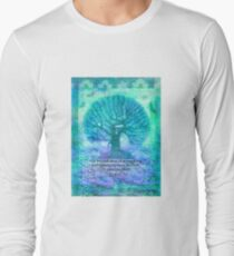 Rumi Friendship Peace Quote with tree art Long Sleeve T-Shirt