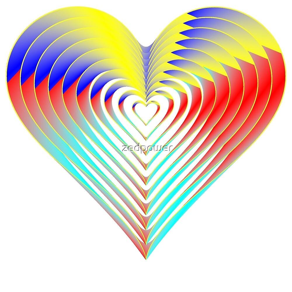 Rainbow Heart Lovers by zedpower