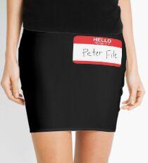 Hello My Name Is Peter File Mini Skirt