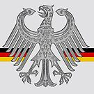 German Eagle with German Flag Ribbon...1949 by edsimoneit
