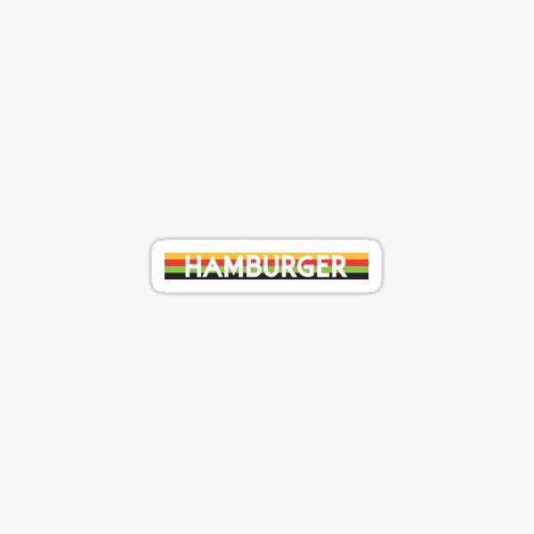 Hamburger Cut Out Sticker