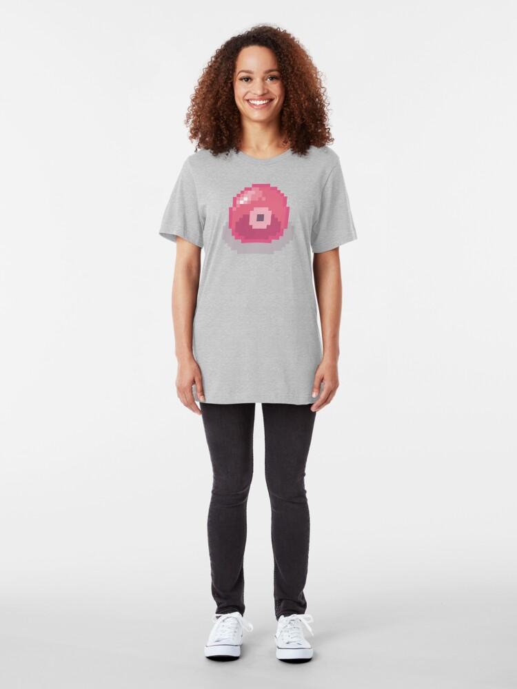 Alternate view of Cute Slime - (Pink) Slim Fit T-Shirt