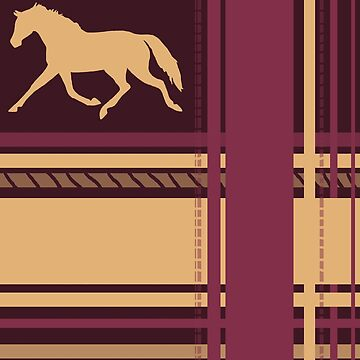 Horse Plaid Pattern by PaintingPony