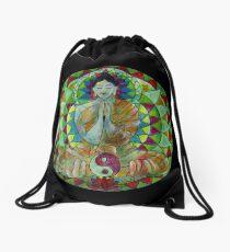 Serenity Buddha free-hand mandala Drawstring Bag