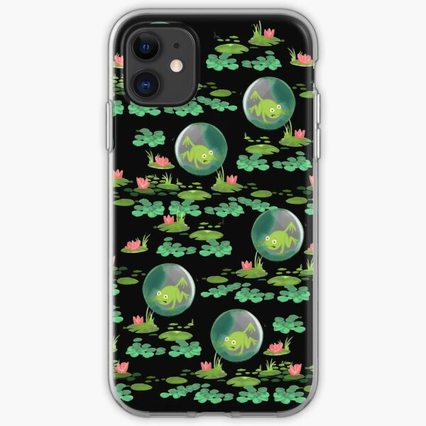 Funny frog pattern iPhone Soft Case