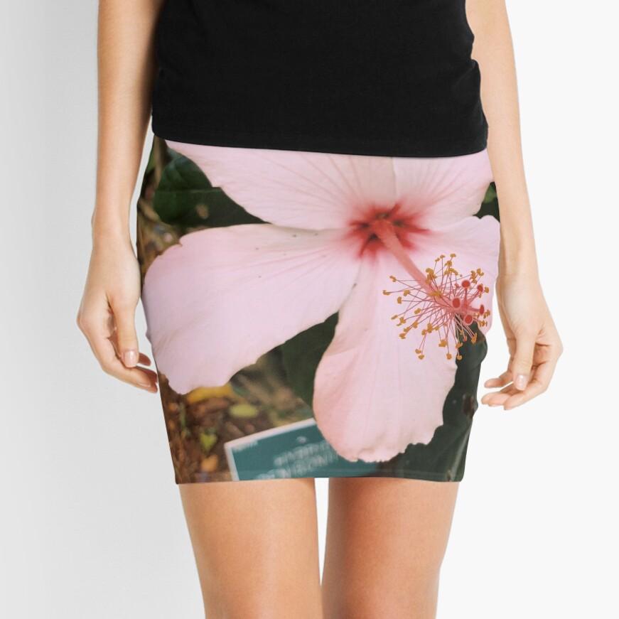 Rosa hawaiische Hibiskusblume Minirock