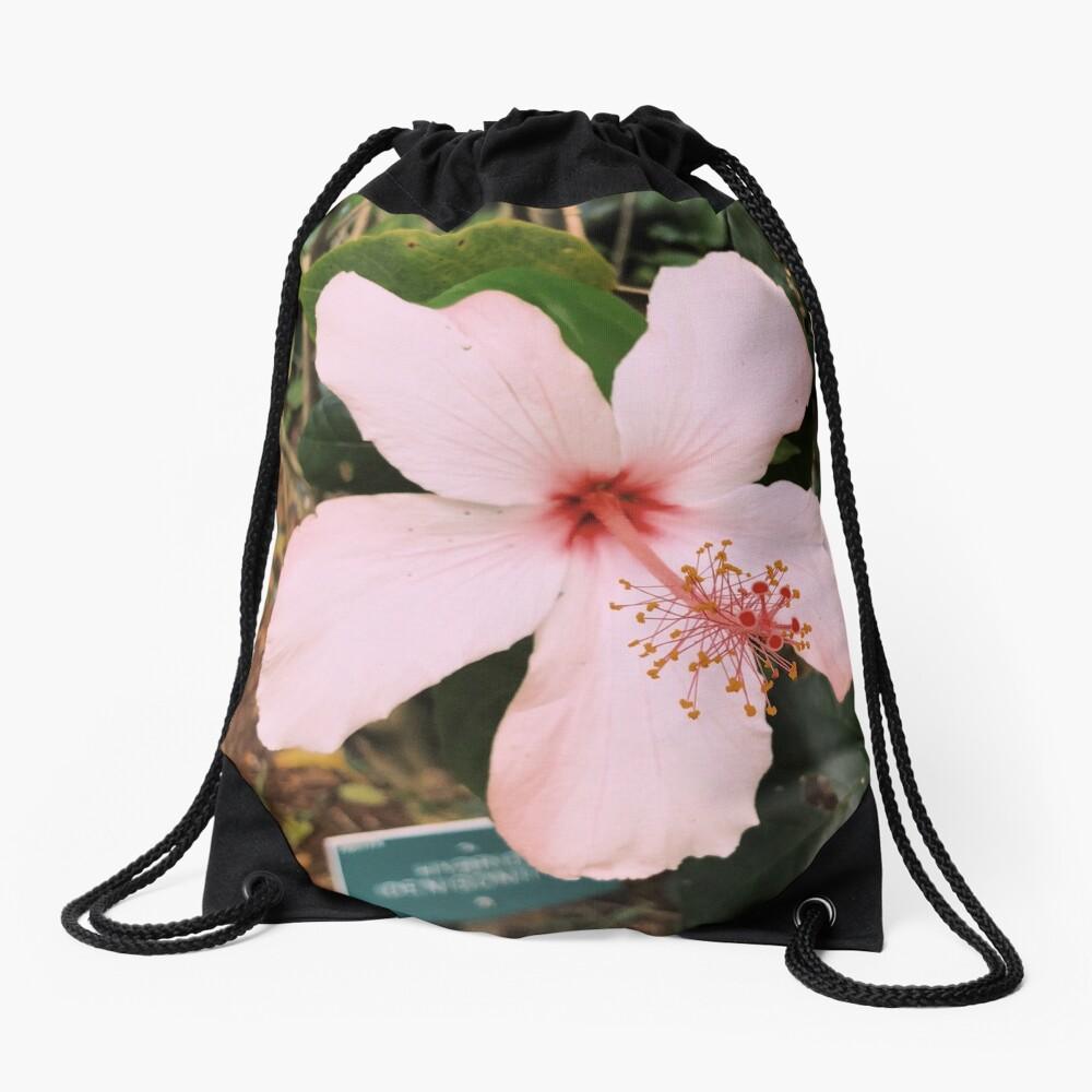 Rosa hawaiische Hibiskusblume Turnbeutel