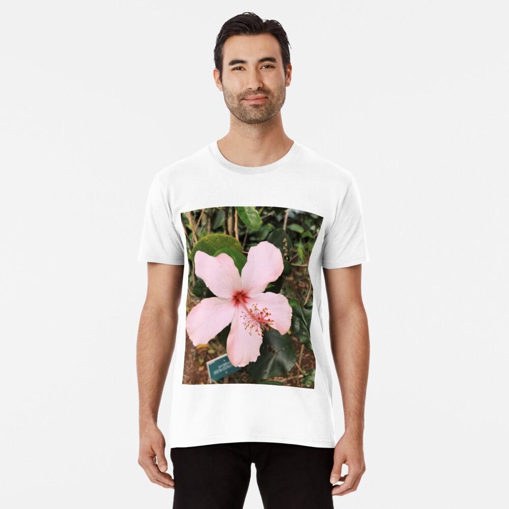 Rosa hawaiische Hibiskusblume Premium T-Shirt
