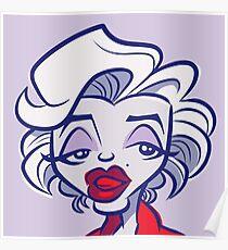 Marilyn Pop (Lavender) Poster