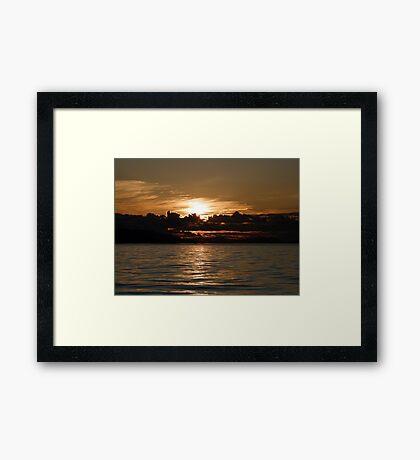 Pender Island Sunset Framed Print