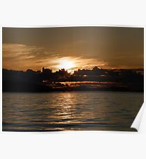 Pender Island Sunset Poster
