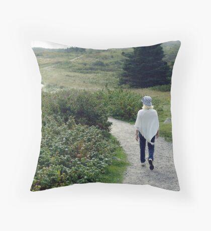 Beach Trails Throw Pillow