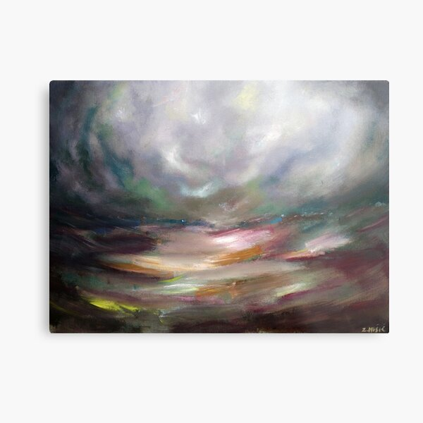 The eye of the storm Metal Print