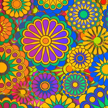 Psychadelic Hippie Flower Power Design von Alondra