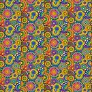 Psychadelic Hippie Flower Power Design von Alondra